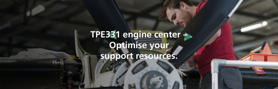TPE331 engine center – Optimise your support resources.